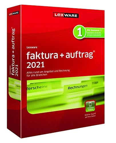 Lexware faktura+auftrag 2021|basis-Version Minibox (Jahreslizenz)|Einfache Auftrags- und Rechnungs-Software für alle Branchen|Kompatibel mit Windows 8.1 oder aktueller