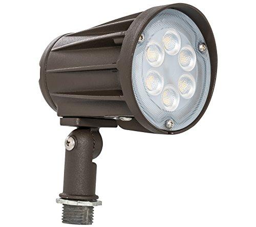 Westgate Lighting LED Outdoor Landscape Garden Bullet Flood Lights - Path Walkway Lawn Spotlights - Knuckle Mount - IP65 Waterproof - High Lumen - 120-277V (15W 5000K Cool White Knuckle)