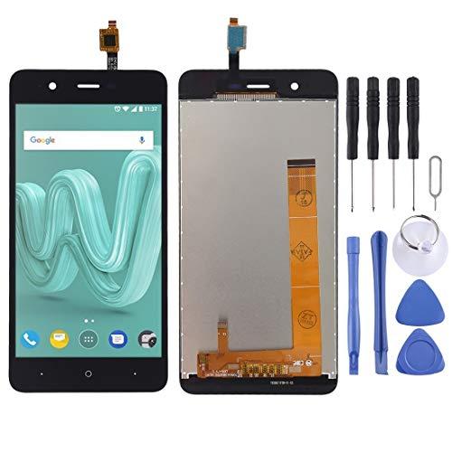 NANSHAN LCD Kit de reemplazo de Pantalla de visualización, Pantalla LCD y Montaje Completo de digitalizador for Wiko Kenny - con Herramientas de reparación. (Color : Negro)