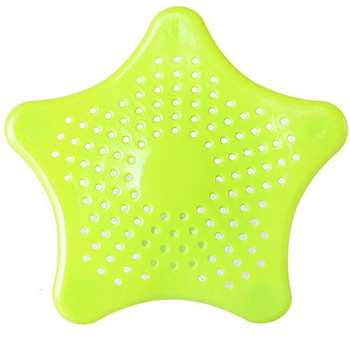 Buy Cheap Alelife Star Bathroom Drain Hair Catcher Bath Stopper Plug Sink Strainer Filter Shower Towels Bath Tool (Green)