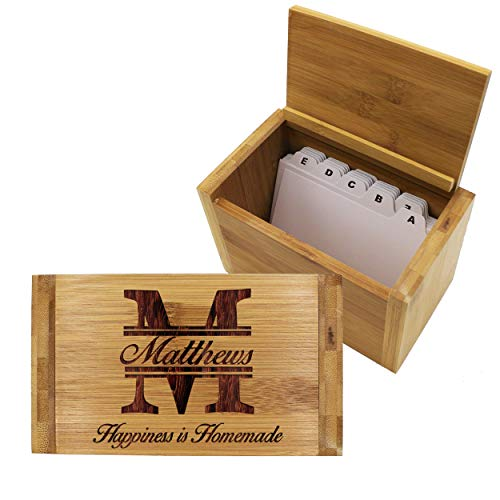 Custom Wood Recipe Box