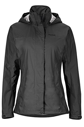 Marmot Women's PreCip Lightweight Waterproof Rain Jacket, Jet Black, Medium