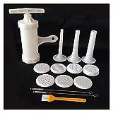 WLSJ Utensilios de cocina 9 moldes de pasta de fideos, trituradora de máquina, se utiliza para espaguetis, cocina, repostería, herramientas de cocina, utensilios de cocina (tamaño: 9 molde)