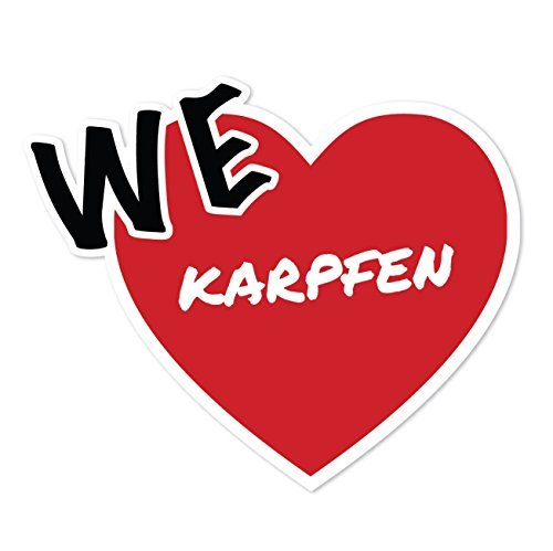 JOllify Sticker - Karper - 10cm - Design: We love - Wir liebe