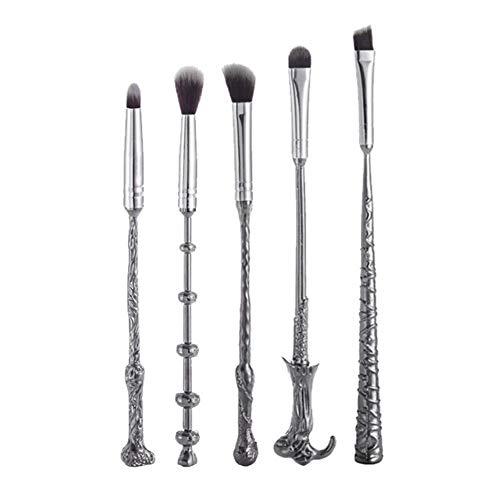 USNASLM Juego de brochas de maquillaje con varita mágica para sombra de ojos, cepillo de belleza de Potter, herramientas de maquillaje, kits de 5 unids/set