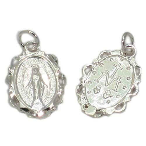 Colgante de plata de ley 925 x 1 colgante de medalla milagrosa.
