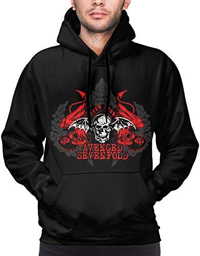 YeeATZ Avenged Sevenfold Logo Sudadera 3D con capucha para hombre