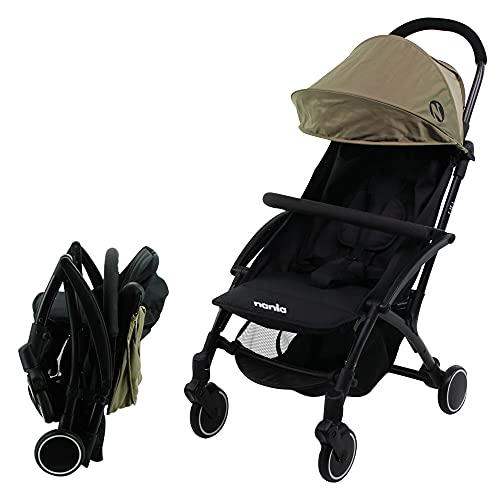 Silla de paseo compacto Nania LILI 0-36 meses - Ligero 6kg - Con Plastico de lluvia (caqui)