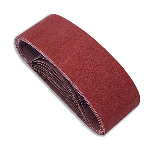 4 x 24 Sanding Belts, Aluminum Oxide Belt Sander Paper,2 Each of 60 80 120 150 240 400 Grits,12 Pack(4x24 Inch)