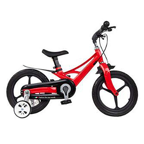 HUOFEIKE Kid's Training Balance Bike for Kids and Toddlers 4-8 Years Old Magnesium Alloy Frame Auxiliary Wheels Walking Bike for Boys Girls, Best Cycling Toy Gifts,B2