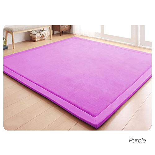 Review Of HZL01 Baby Play Mat, Thicken Coral Velvet Crawling Rugs for Baby, Tatami Mat Living Room B...
