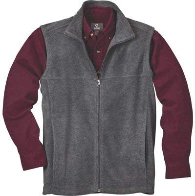 Gravel Gear Men's Zip-Up Fleece Vest — Charcoal, 2XL