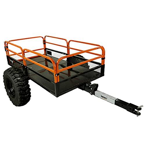 MotoAlliance Impact ATV/UTV Heavy Duty Utility Cart Cargo Trailer 1500lb Capacity 15 cu. ft.