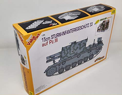 Dragon cyber hobby 9123 15cm Sturm-Infanteriegeschutz 33 auf Pz III con set...