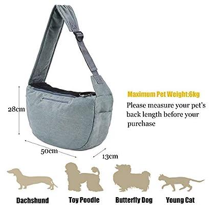 Maxmer Pet Sling Carrier, Dog Sling Bag Shoulder Carry Tote Handbag Dog Travel Carrier Bag for Cat Puppy Kitty Rabbit Bunny 3