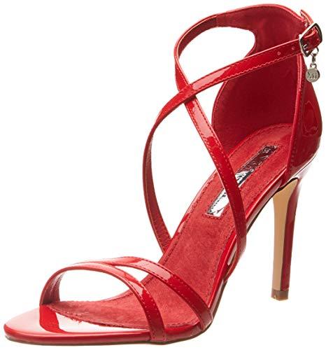 XTI 32046, Zapatos con Tira de Tobillo para Mujer, Rojo, 39 EU