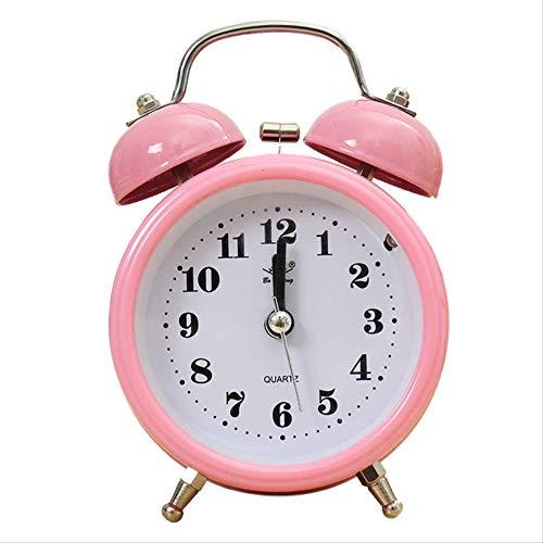 yywl Alarm Klok Draagbare Klassieke Stille Dubbele Klok Wekker Quartz Beweging Nachtlampje