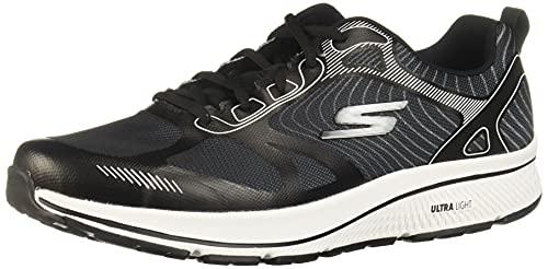 Skechers Performance Go Run Consistent-Fleet Rush, Zapatillas para Correr Hombre, Negro (BKW Black Synthetic/Textile/White Trim), 44 EU