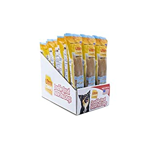 Ultra Chewy Naturals Dog Treat Bone Made in USA Highly Digestible Irresistible Flavors Special Box with Individual Packages (Greek Yogurt, 24 Count)