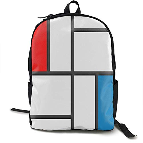 Lässige Daypack Big Capacity Anti-Theft Mehrzweck-Umhängetasche Rucksack für die Schule im Freien Fahrrad - Abstrakte Moderne Kunst, Reisen Wandern Daypack