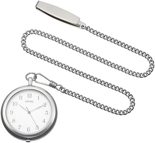 [セイコーウォッチ] 懐中時計 シルバーケース アラビア数字表記 チェーン付 SAPP007