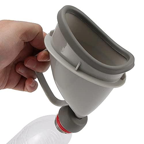 Unisex bärbar urinoar, utan läckage utan stänk enhet med bärväska lämplig för sjukhus hem camping eller bilresor stående man kvinna toalett 2 st