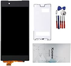 KNONEW Compatible for Sony Xperia Z5 E6603 E6653 E6683 Screen Replacement Glass LCD Display Touch Digitizer Assembly Tools(Black
