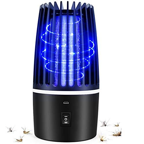 Flagicon Lámpara Antimosquitos Eléctrico, USB Recargable Bug Zapper 2 en 1 Portátil Linterna de Camping LED Luce UV LED Insectos Trampa, Matar Mosquitos, Moscas, Polillas, para Hogar, Cámping