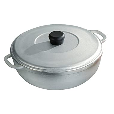 IMUSA USA R200-CALDERO 26 Traditional Caldero with Lid 4.4-Quart, Silver