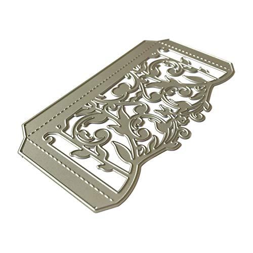 Baiyao Metall-Stanzformen mit Blumenranken-Motiv, Schablone für Scrapbooking, DIY, Album, Stempel, Papier, Karten, Prägung, Dekoration, Handwerk