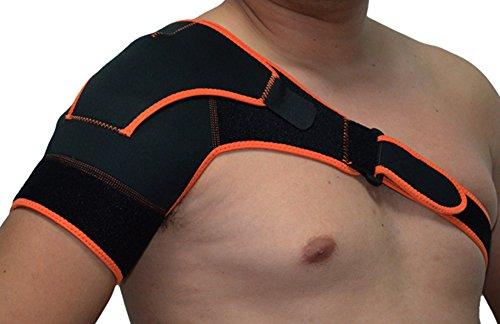 Shoulder brace Yosoo Adjustable Sports Therapy Back Shoulder Brace Shoulder Pad Wrap Support Belt Single Sports Pretector