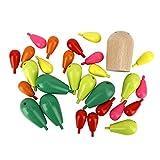 Juguete Cactus, Juguete de apilamiento para niños Rompecabezas de Madera para niños Juguete de Cactus de Equilibrio Bloques de construcción ensamblados