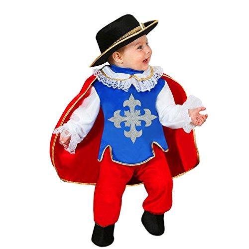 Pegasus Vestito Costume Maschera di Carnevale Neonato - Moschettiere - Taglia 13/18 Mesi - 63 cm