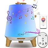 SZMP Essential Oil Diffuser, Diffusers for Essential Oils with Remote Control Bluetooth Speaker, Aromatherapy Diffuser Ultrasonic Cool Mist Humidifier with 8 Ambient Lights & Auto Shut-Off for Home