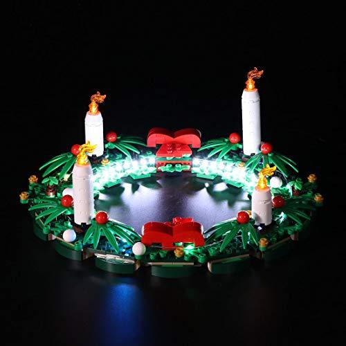 Mecotecn LED Beleuchtung Kit für Lego 40426 2-in-1-Adventskranz (Lego Modell Nicht Enthalten) -Typ B, Klassische Version