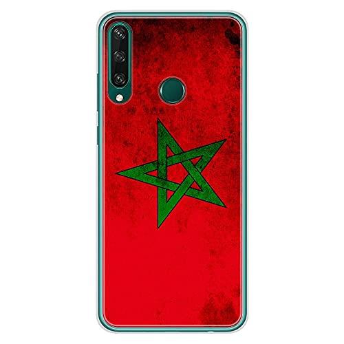 1001coques - Carcasa de silicona para Huawei Y6P, diseño de bandera de Marruecos
