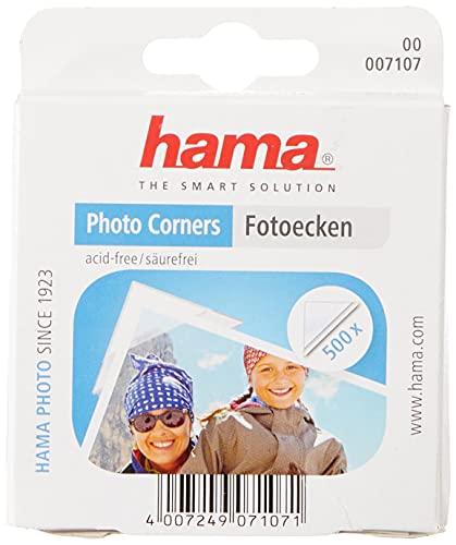 Hama Photo Corners 500 - esquinas de fotos (transparente, blanco)