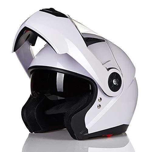SJAPEX Abnehmbar Modulare Helme, Klapphelme Integralhelme Harley Motorrad-Helm Full-face Helmet Jet-Helm Motocrosshelme Mofa-Helm Biker Helmet mit Doppelvisiere, ECE und DOT Zertifiziert