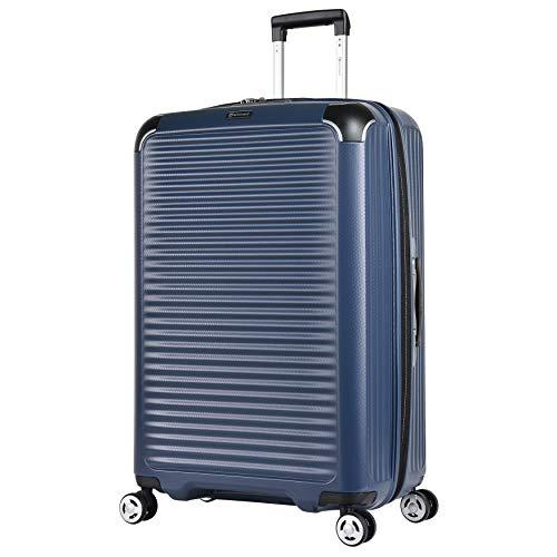 Eminent Valigia Materia 77cm 109L super leggera e resistente, con protezione addizionale dei bordi Anti-graffio 4 ruote doppie 360° Blu