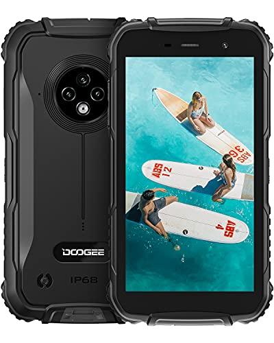 Móvil Resistente, DOOGEE S35 [2021] 4350mAh Batería 4G Moviles Baratos y Buenos Android, 13MP Triple Cámara, 5.0 Corning Gorilla Glass Pantalla, 2GB RAM + 16GB ROM Smartphone Antigolpes, GPS, Negro