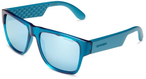 Carrera 5002 SK B53 Gafas de sol, Turquesa (Turquoise Matte Turquoise/Blue Mirror), 55 Unisex-Adulto