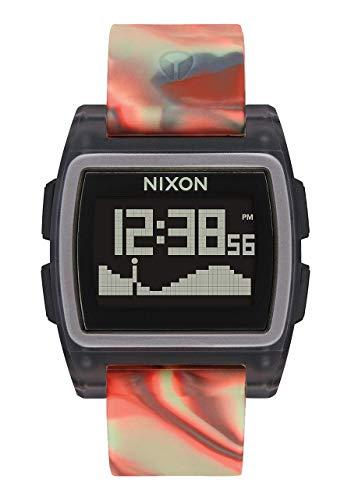 Nixon Herren Digital Uhr mit Silikon Armband A1104-3178-00