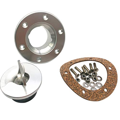 perfk Tankverschluss aus Edelstahl Benzintankdeckelverschluss Schlüsselmotorradzubehör