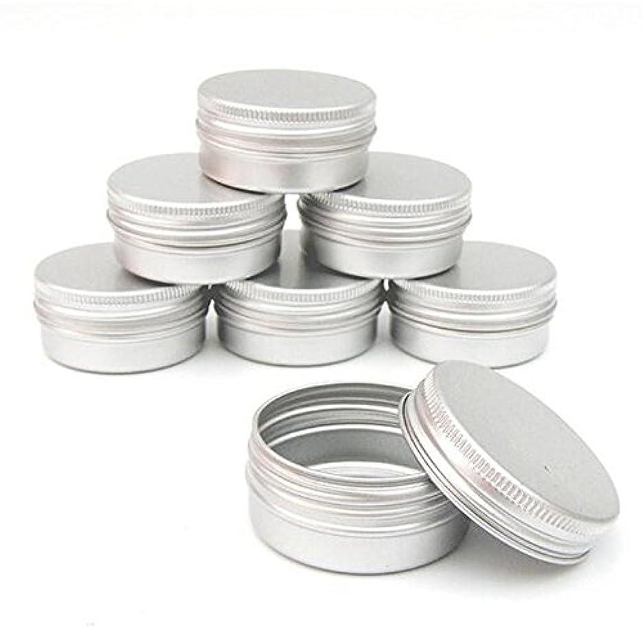 Cikuso 10個 ネイルアート/コスメティッククリームのパック DIYのポットリップジャーティンケース/コンテナス/クリュー容器(空) DIYの化粧品/美容製品に適合します。(30ml)