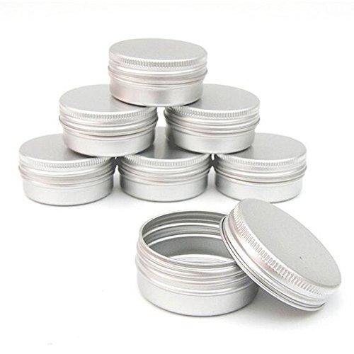 Fanuse Paquet de 10 Pot de Maquillage cosmetique de Creme de Baume de Caisse d'etain de levre Capacite de vis (Vide) pour Les Produits cosmetiques de Beaute/Produits de Beaute (30ml)