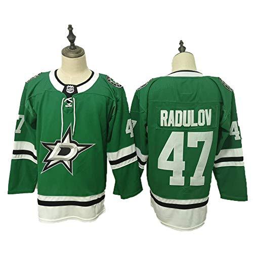 Yajun Mats Zuccarello#36/Alexander Radulov#47 Dallas Stars Ice Hockey Jerseys NHL Men Sweatshirts Breathable Long Sleeve T-shirt,47,L/52