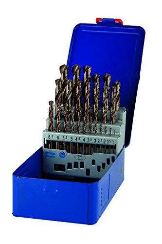 IRWIN 10503730 IW10503730 HSS PRO Cobalt Drill Bit Set with Case-Pack of 25, 1 to 13 mm, Set of 25 Pieces