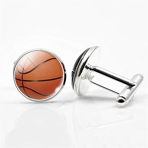 Gemelos deportivos de calidad redondos de cristal para hombre, diseño de camiseta de baloncesto, fútbol, tenis