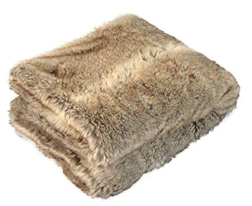 MESANA Wohndecke Luna braun Polyester Microfaser-Fleece Tagesdecke Kuscheledcke Zudecke kuschelig weich Überwurf Sofadecke warm angenehm elegant