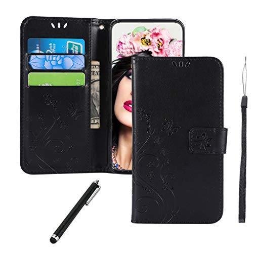 Samsung Galaxy S10e Hülle,Premium PU Leder Flip Brieftasche Schutzhülle [Standfunktion][Kartenfach][Magnetverschluss] Tasche Case Cover Etui Schutzhülle Klapphülle lederhülle für Galaxy S10e Schwarze
